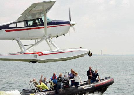 RIB en watervliegtuig