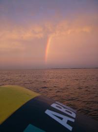 boei IJsselmeer Muiden regenboog water