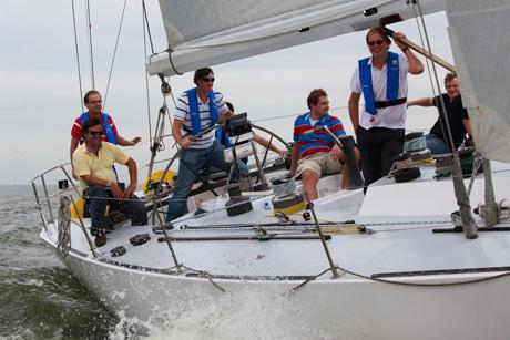 Frers45 zeiljacht tijdens Rabobank bedrijfsuitje door SailingEvents