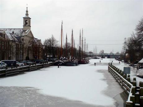 Winterse Vecht bij Muiden