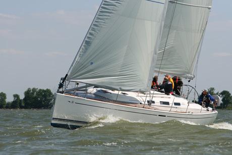 bedrijfsuitje met Tack en Gybe zeilschepen