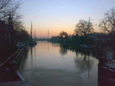 Vecht in de winter