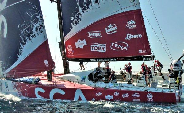 Team SCA bij de Volvo Ocean Race