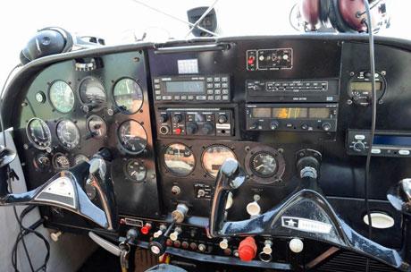Watervliegtuig IJsselmeer cockpit